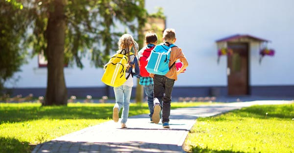 children walking to school represented by the best education lawyers in bucks county pa