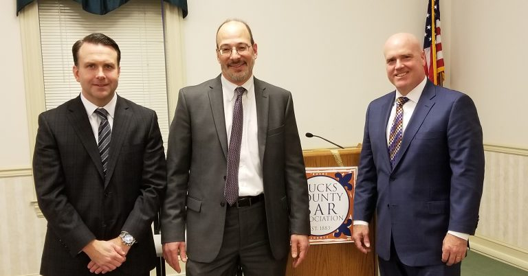 Attorney Thomas E. Panzer Talks Workers' Compensation at Bucks County Bar Association