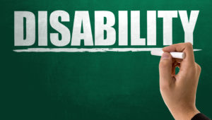 Disability written on a chalkboard ssdi