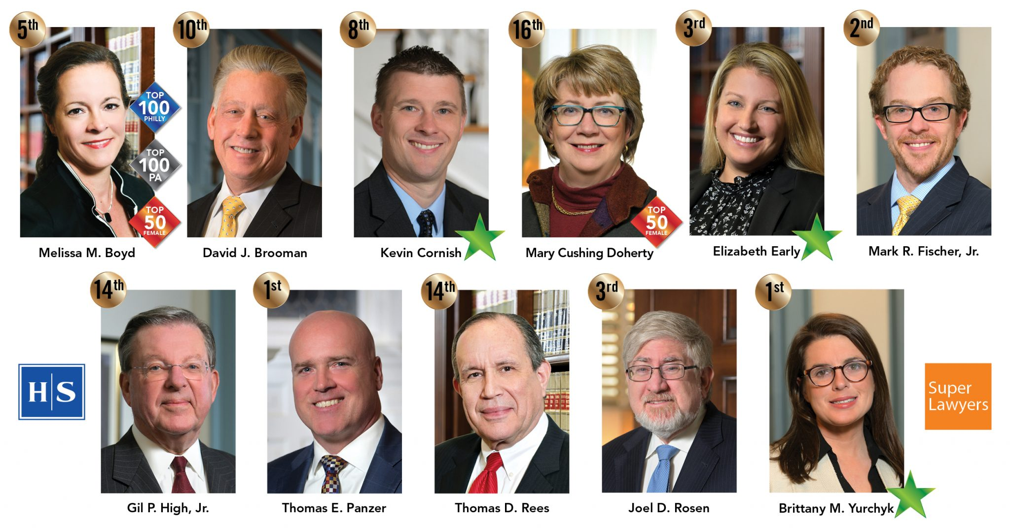 11 High Swartz Attorneys named to PA Super Lawyers and Rising Stars lists