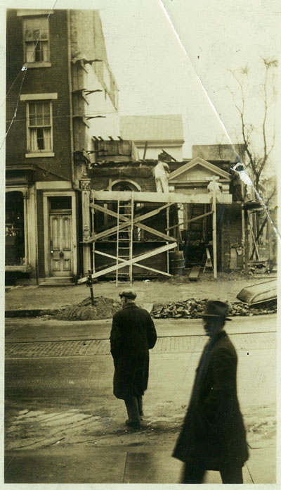 old picture of high swartz law firm being constructed in 1920s norristown pa
