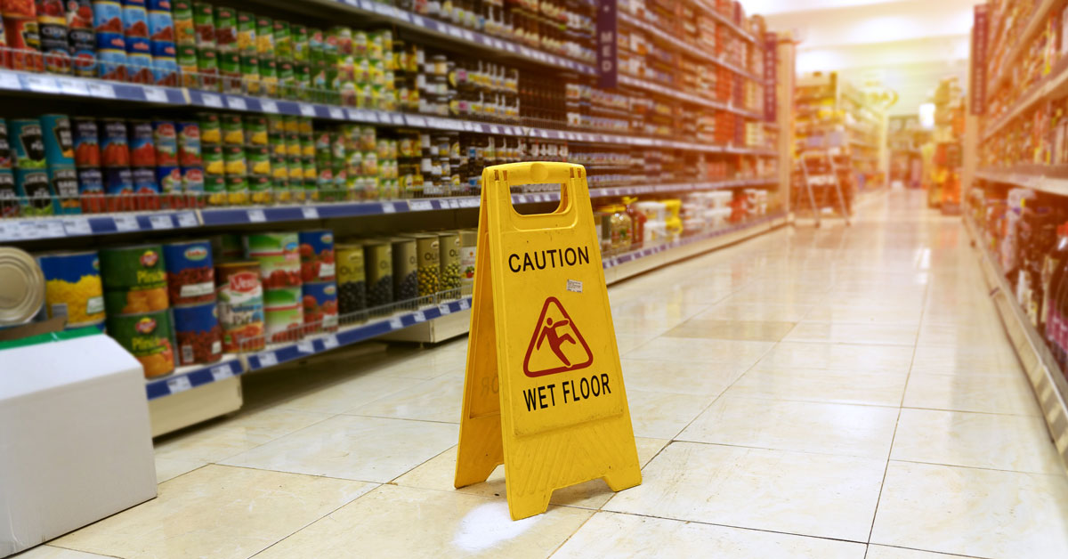 slip and fall personal injuries in market