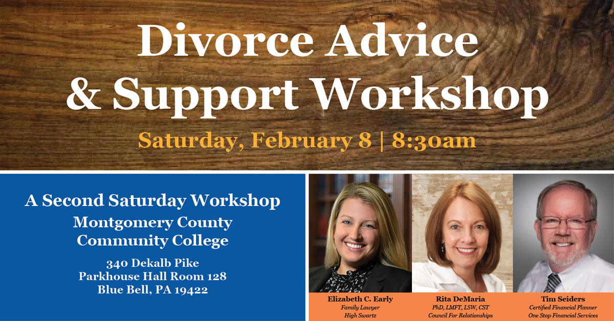 Divorce Advice & Support: Second Saturday Workshop