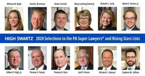 high swartz 2020 super lawyers and rising stars list