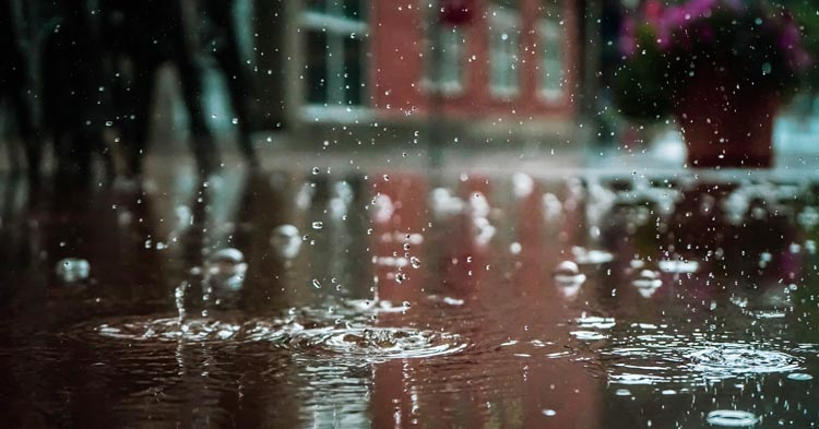 raindrops falling in municipality recently enacting stormwater fees